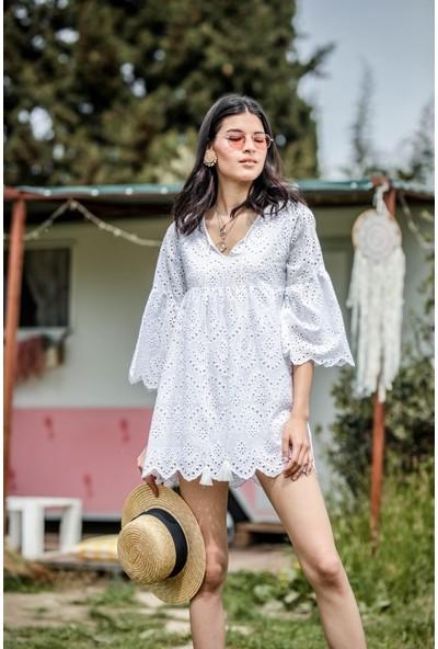 Blanca Portofıno Brode Kumaş Elbise