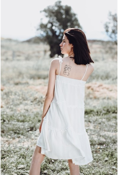 Blanca Mıa Pamuk Katlı Elbise