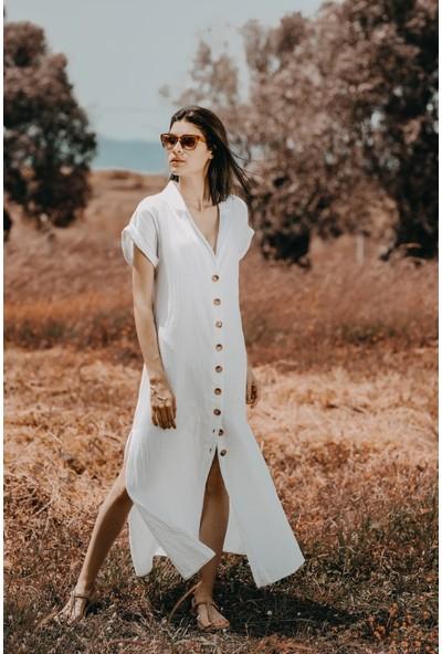 Blanca Daylıght Özel Dokuma Kumaş Gömlek Elbise