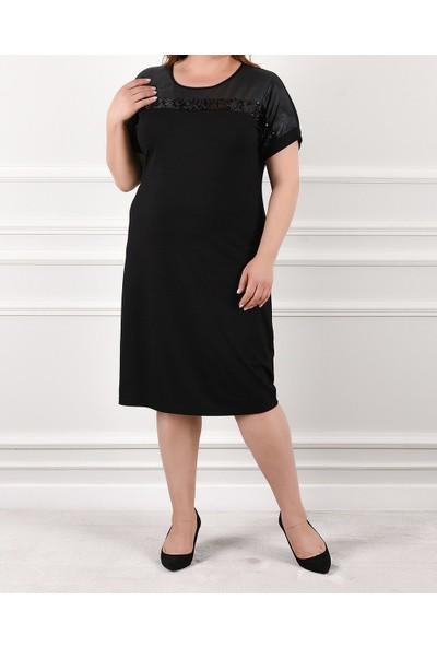 Nelly Büyük Beden Kısa Kol Kadın Elbise