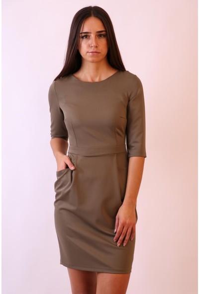 Aclassics Yeşil Pileli Elbise