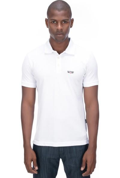 Galvanni Erkek Beyaz T-Shirt - Logs