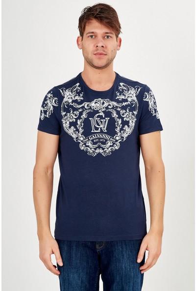 Galvanni Erkek Lacivert T-Shirt - Lamarın
