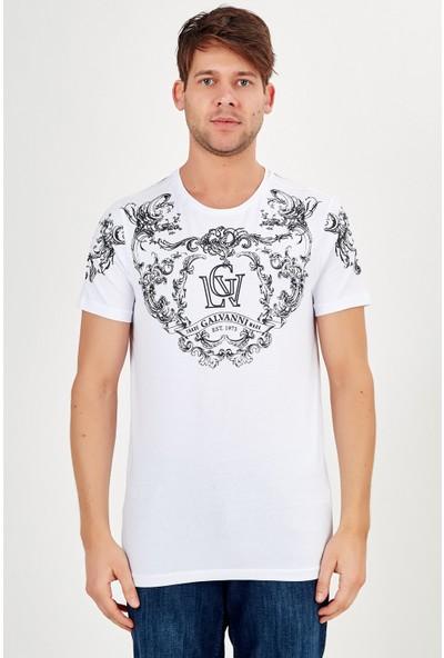 Galvanni Erkek Beyaz T-Shirt - Lamarın