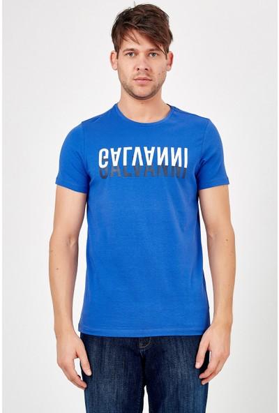 Galvanni Erkek Mavi T-Shirt - Bonayo