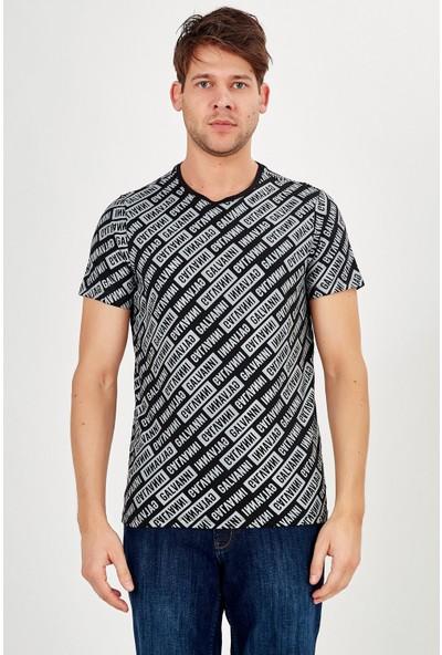 Galvanni Erkek Siyah T-Shirt - Azurava