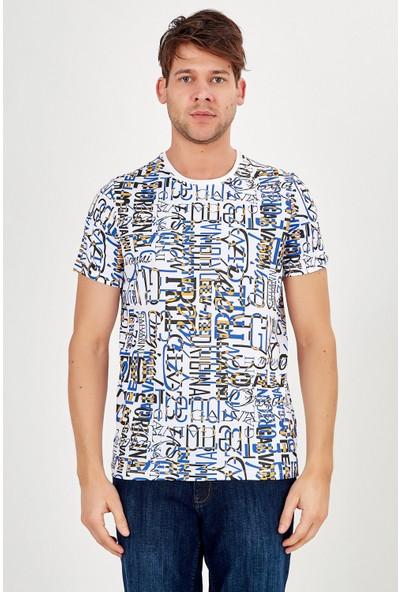 Galvanni Erkek Beyaz T-Shirt - Azu