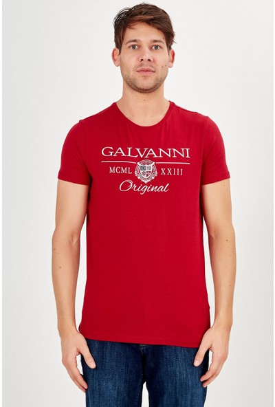 Galvanni Erkek Kırmızı T-Shirt - Varımo