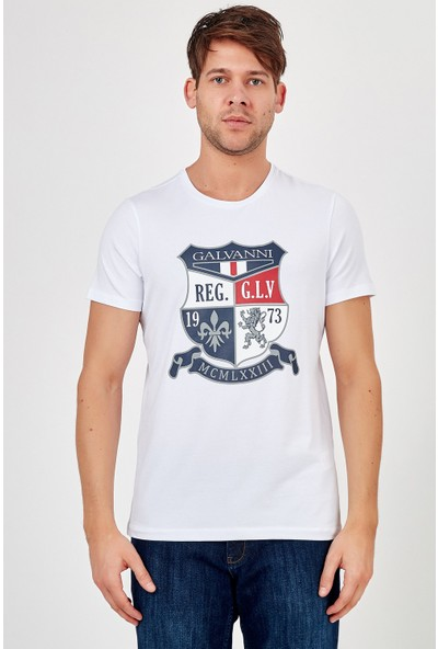 Galvanni Erkek Beyaz T-Shirt - Remıva