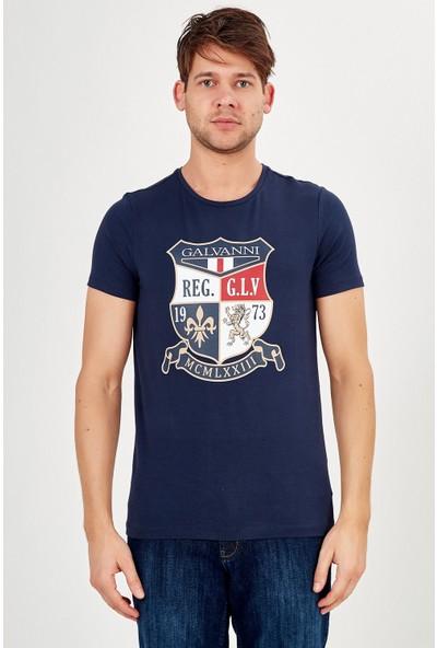 Galvanni Erkek Lacivert T-Shirt - Remıva
