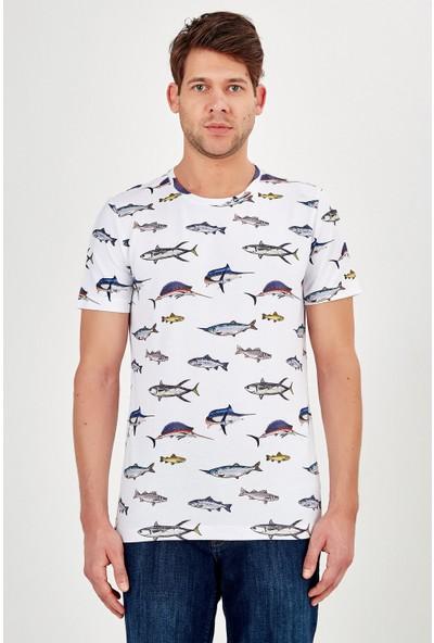 Galvanni Erkek Beyaz T-Shirt - Sosuva