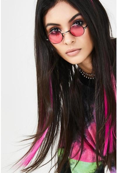 Newobsessions Pink Neon Çıtçıtlı Saç 2Li
