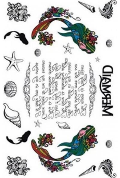 Neo Flash Tattoo Mermaid Geçici Dövme
