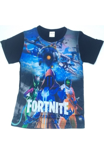 Fortnite Digital Baskılı Mavi Penye Erkek Çocuk T-Shirt 152