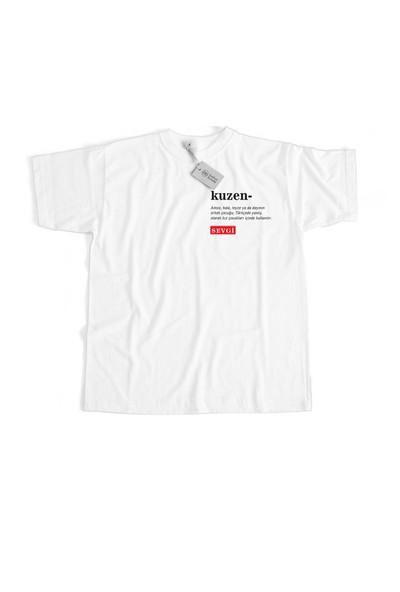 Baskımburada Beyaz T-Shirt Kişiye Özel Kuzen BBBT000277