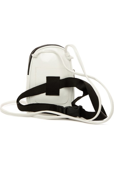 Bagmori Beyaz Mini Askılı Bel Çantası