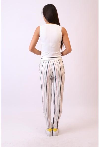 Aclassics Keten Çizgili Renkli Pantolon