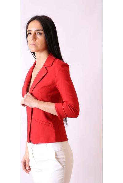 Aclassics Flato Cepli Capri Kol Mini Kırmızı Ceket