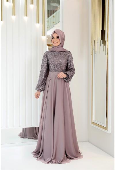 Pınar Şems Alya Abiye Lila