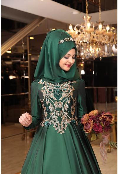 Pınar Şems Tuana Tafta Abiye Zümrüt
