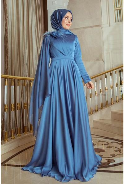Pınar Şems Yaren Abiye Mavi