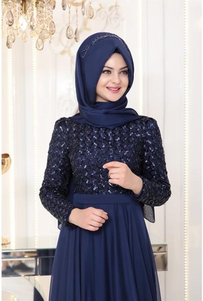 Pınar Şems Petek Abiye Lacivert