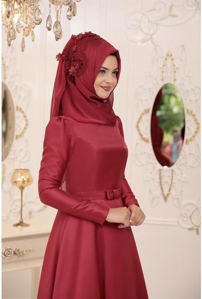 Pınar Şems Çitlembik Abiye Bordo