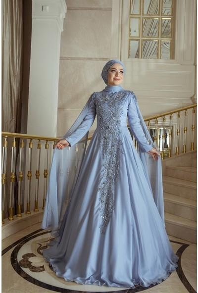 Pınar Şems Kardelen Abiye Mavi