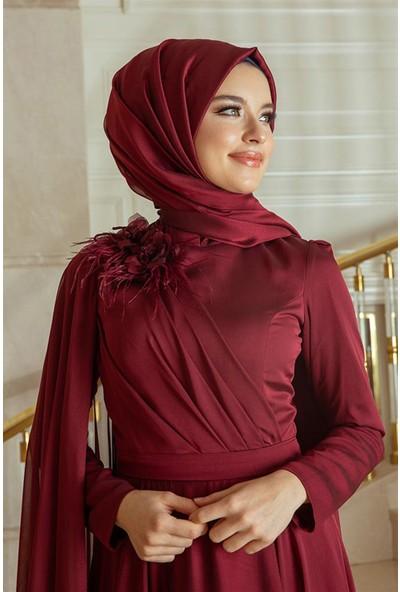 Pınar Şems Yaren Abiye Bordo