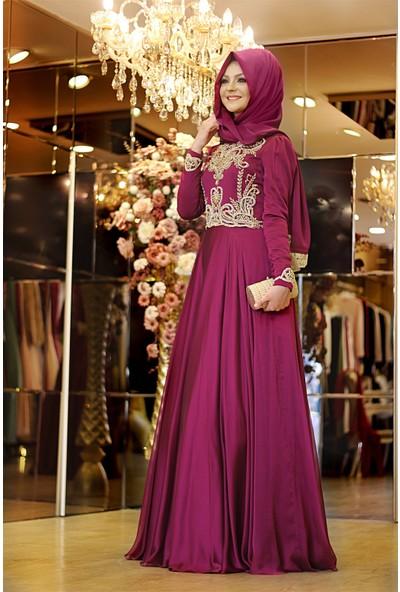 Pınar Şems Sahra Abiye Fuşya