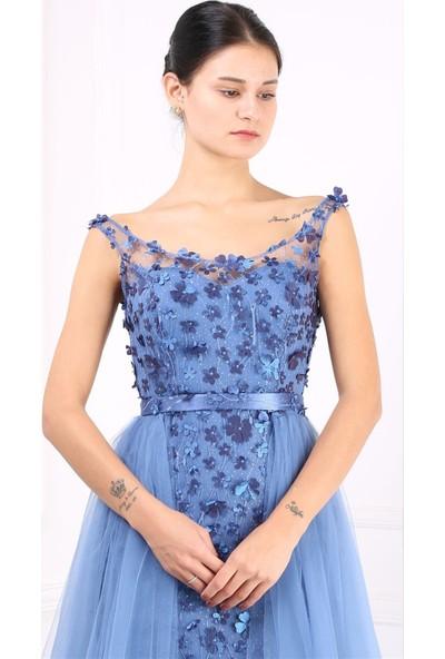 Fistan Abiye 6652 Mavi
