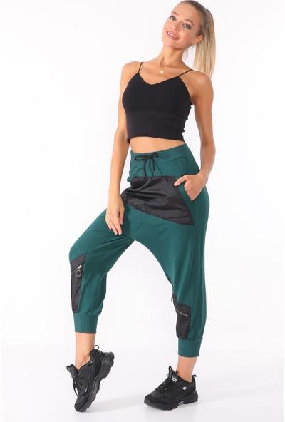 PodiumStar Fermuar Detaylı Modern Şalvar Pantolon