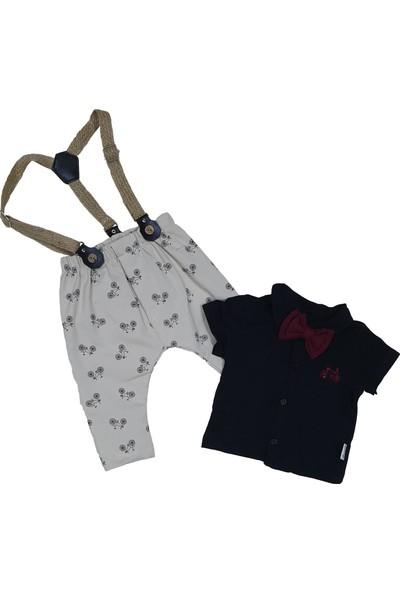 Hippıl Baby Askılı Pantolon ve Papyonlu Gömlek Takımı