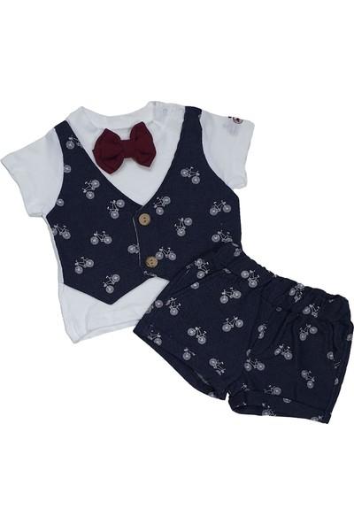 Hippıl Baby Papyonlu Yelekli Tişört ve Şort Takım