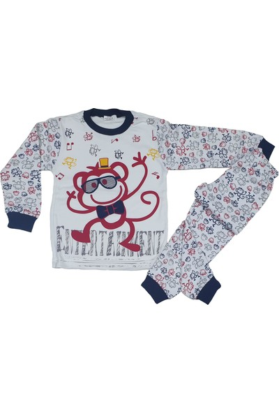 Süper Mini Gözlüklü Sevimli Maymun Pijama Takımı