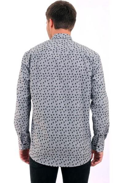 Altegro Fermuarlı Oduncu Baskılı Erkek Gömlek