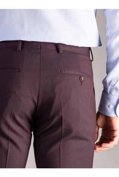Dufy K.Bordo Düz Erkek Pantolon - Regular Fıt