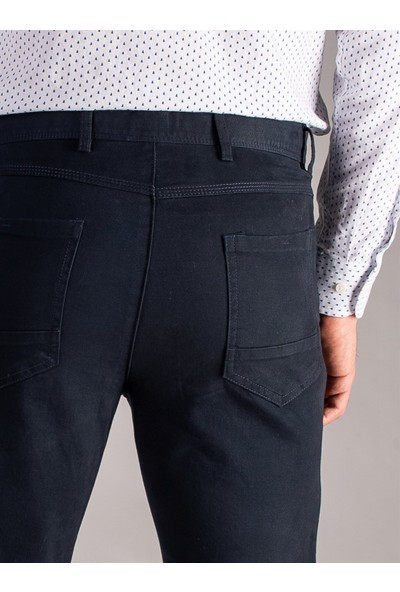 Dufy K.Lacivert Düz Erkek Pantolon - Regular Fit