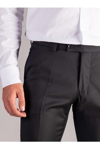 Dufy Siyah Büyük Beden Düz Erkek Pantolon - Battal