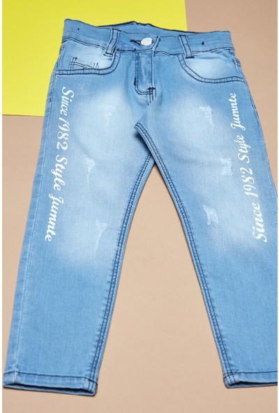 Fullamoda Kız Çocuk Yazı Baskılı Pantolon