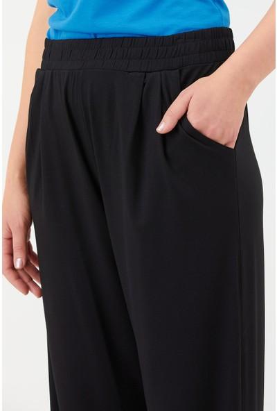 Sementa Kadın Rahat Kalıp Pantolon - Siyah