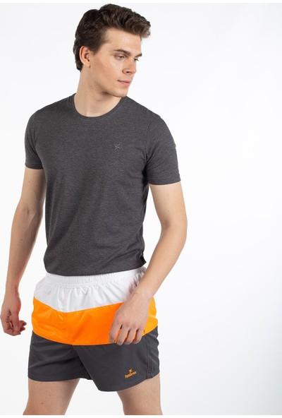 Bysorex V Yaka T-Shirt- Antrasit