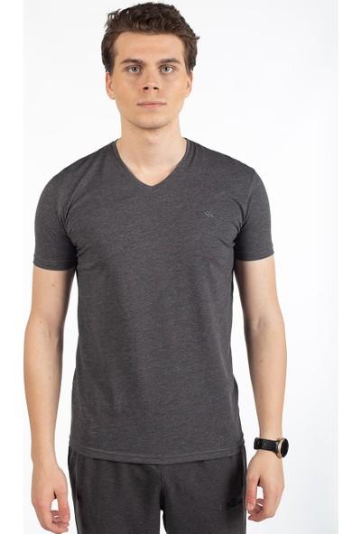 Bysorex Bisiklet Yaka T-Shirt- Antrasit