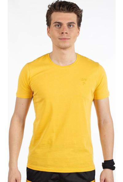 Bysorex V Yaka T-Shirt- Sari
