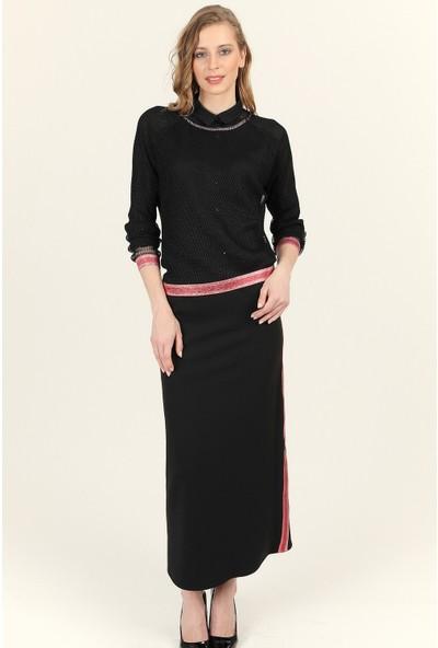 Wathka Kadın File Bluz - Siyah