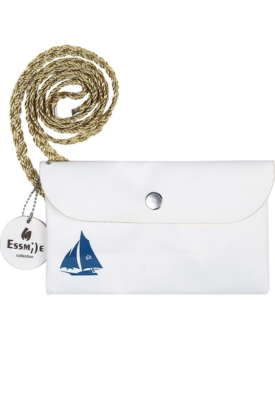 Essin Denizci Motifli Çantalı Pareo