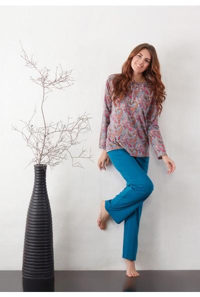 Marie Claire - %100 Pamuk - Lısea Pijama Takımı - Beden : S
