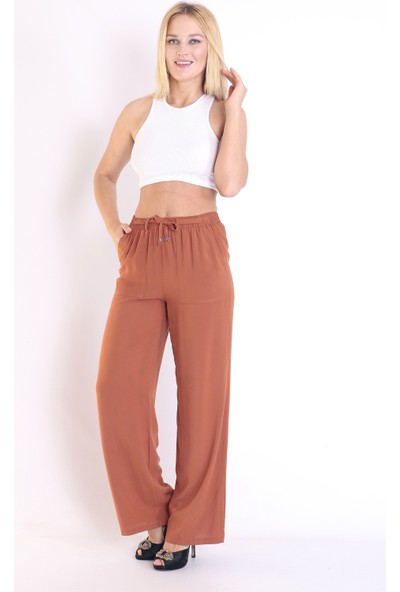Moda Tuğram Kiremit Renk Pantolon