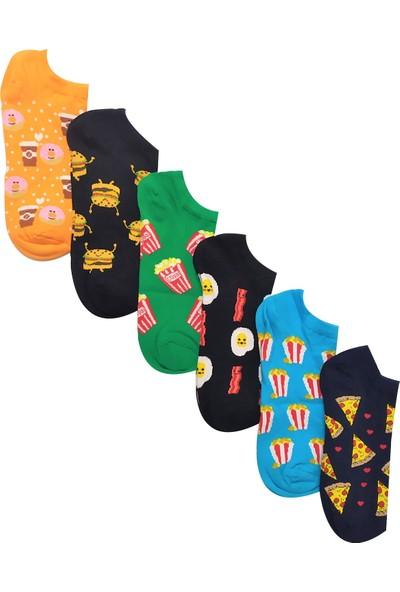 Mem Socks Renkli Patik Çorap 6'lı