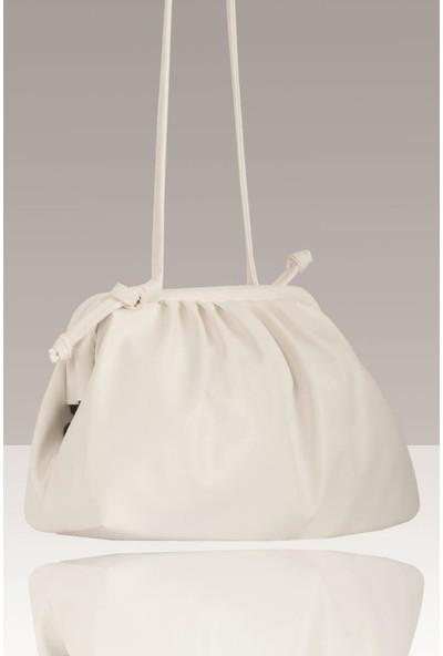 Nk Trq Burslu Mini Bohça Çanta 2134 Beyaz